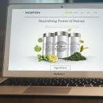 website design for heath supplement store