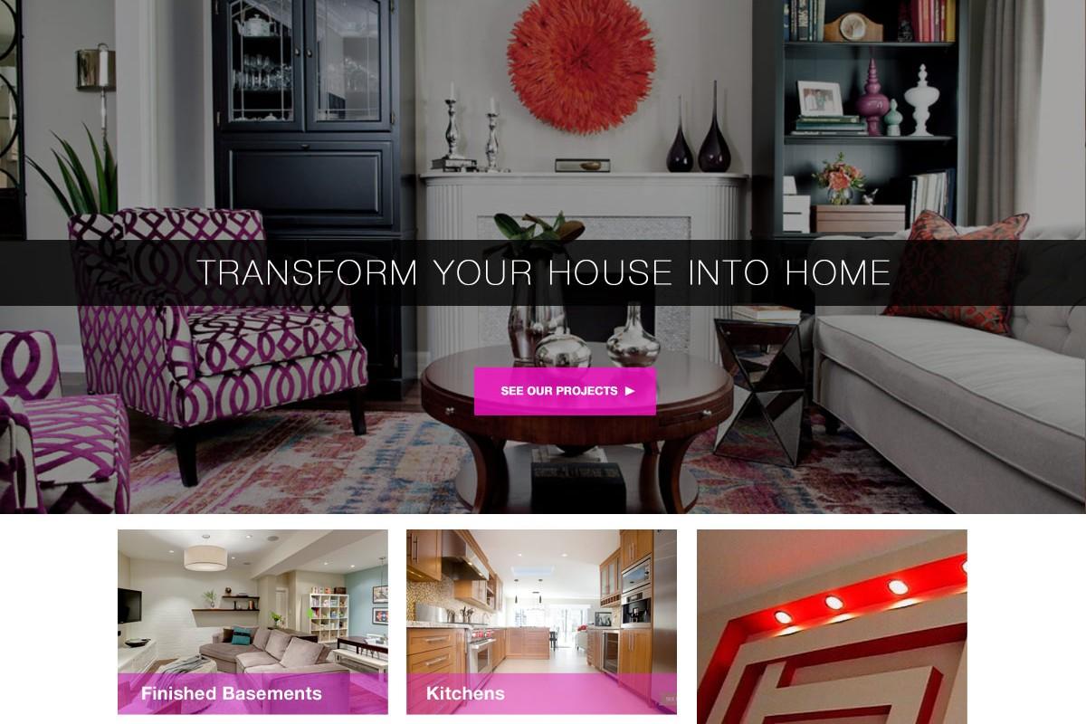 Interior Design and Renovation Company Website