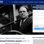 Criminal law firm website
