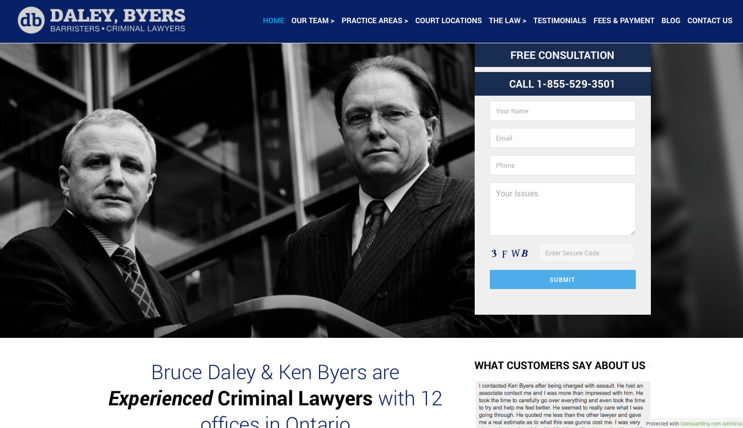 Website creation for criminal law firm