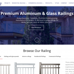 Aluminum railings manufacturer website + CRM
